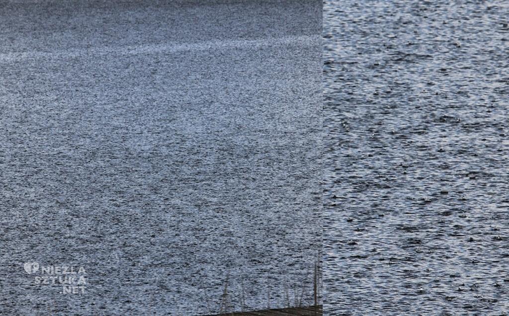 Gradobicie na jeziorze fot. Andrzej Fogtt